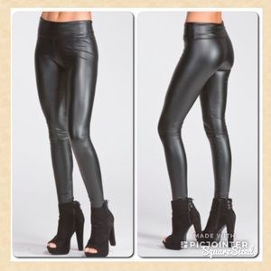 Pants - NEW Thick Faux Leather Pleather Black Leggings